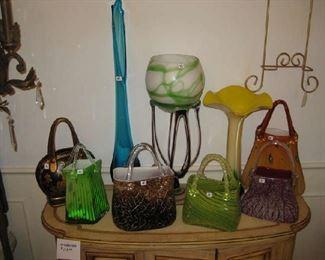 decorative glass purses
