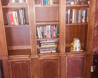 solid wood bookshelves--perfect for an office or study