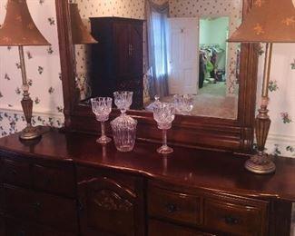 fine dresser with large mirror