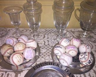 Signed LSU baseballs