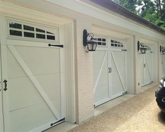 The 4-car carriage house is full!!!