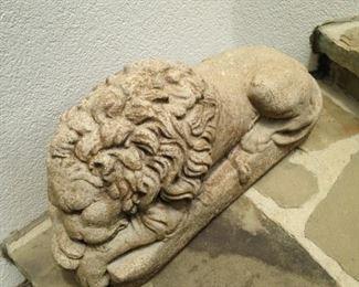 Shhhhhhh! This lion is sleeping!