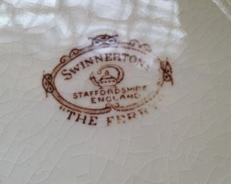 "Swinnertons Staffordshire ""The Ferry"" transferware from England"