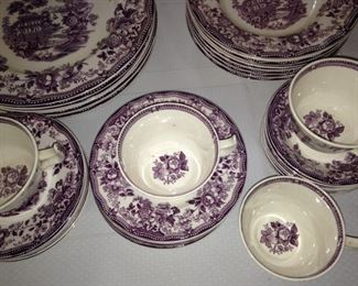 "Plum & cream ""Tonquin"" by Royal Staffordshire Dinnerware"