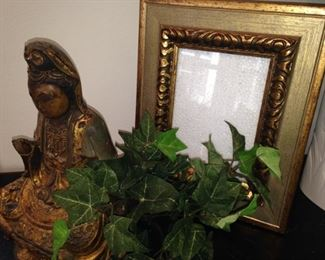 Buddha statue; one of many frames