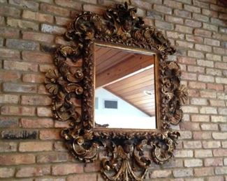 Incredible carved wooden frame