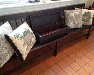 Extra long antique bench