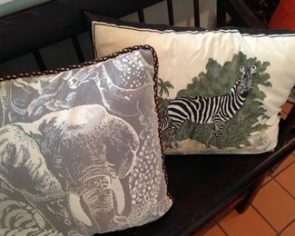 Wild animal pillows