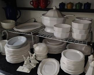 More white stoneware dishes