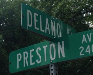 The home is at the corner of Delano and Preston.