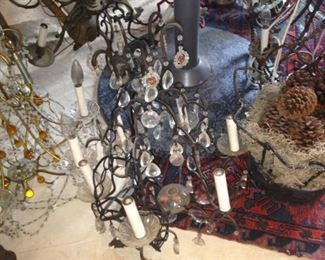 Several chandeliers