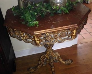 Ornate and finely detailed octagon side table