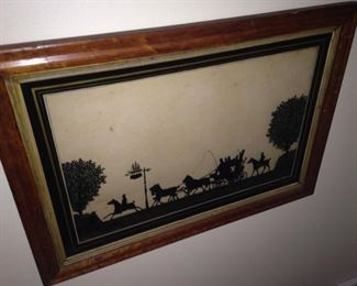 Silhouette framed art