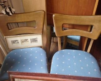 Two of the four Heywood Wakefield chairs
