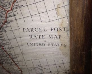 Parcel Post Rate Map of the USA