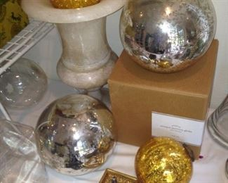 Mercury glass balls