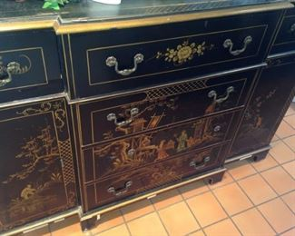 Large chest (as is) with Asian motif