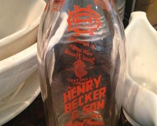 Henry Becker & Son milk bottle