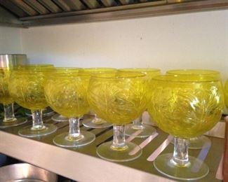 Yellow stemware