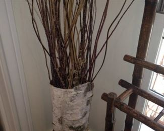 Another bark container and twigs