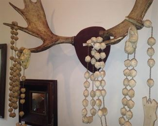 Large wooden wall hanging rosary