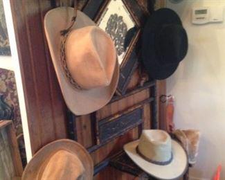 Variety of cowboy hats