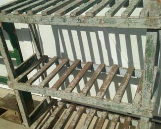 Rustic shelf unit