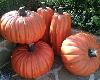 Large artificial pumpkins