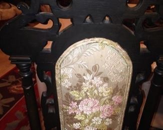 Each chair is beautifully upholstered .