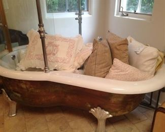 A tub full of pillows