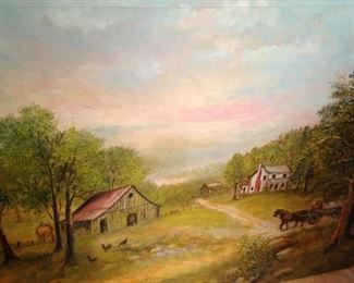 Oil country scene art