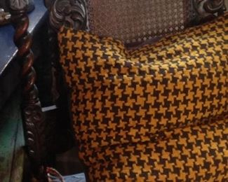 Carmel and black pillow