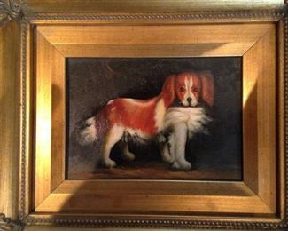 Framed dog picture