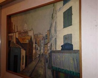 Framed oil by artist Maurice Utrillo