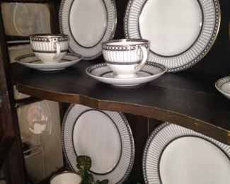 .  .  . beautifully displays English Wedgwood china