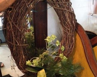 Wreath with yellow accents