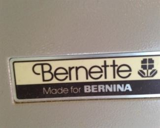 Bernette Serger made for Bernina
