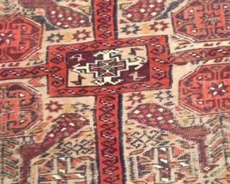 Colorful rug: 3 feet 6 inches x 5 feet 4 inches