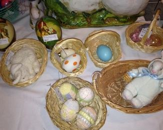 Eggs, baskets, and bunnies
