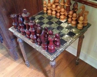 Another chess set and table