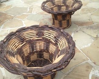 Two large matching baskets