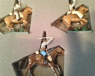 "Hand-painted metal soldiers - ""Confederate Cavalry"" - made in England"