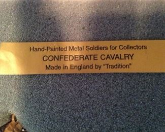 "Hand-painted metal soldiers - ""Confederate Cavalry"""