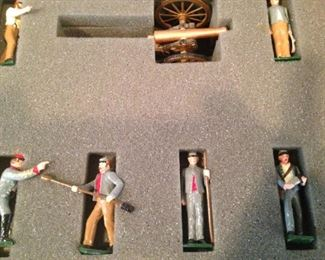 "Hand painted ""Confederate Artillery"" - made in England"