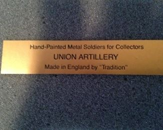 """Union Artillery"" metal soldiers"
