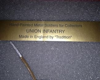 """Union Infantry"" metal soldiers"
