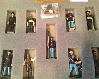 """President Lincoln and His Generals"" - hand-painted soldiers made in England"