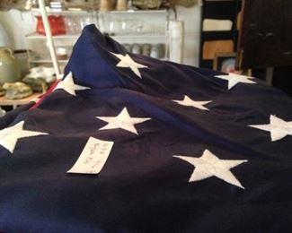 One of several American flags