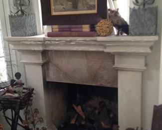Another mantle full of decor