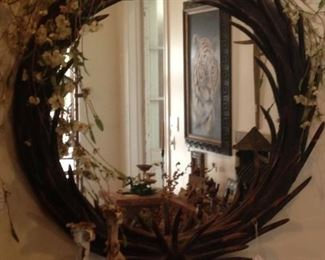 Mirrored wreath